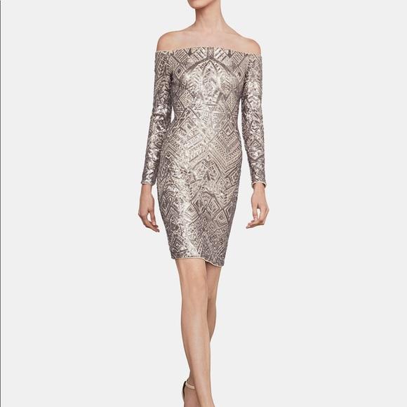 e631cac498d2 BCBGMaxAzria Dresses | Bcbg Maxarzria Xxs Rose Gold Bodycon Sequin ...